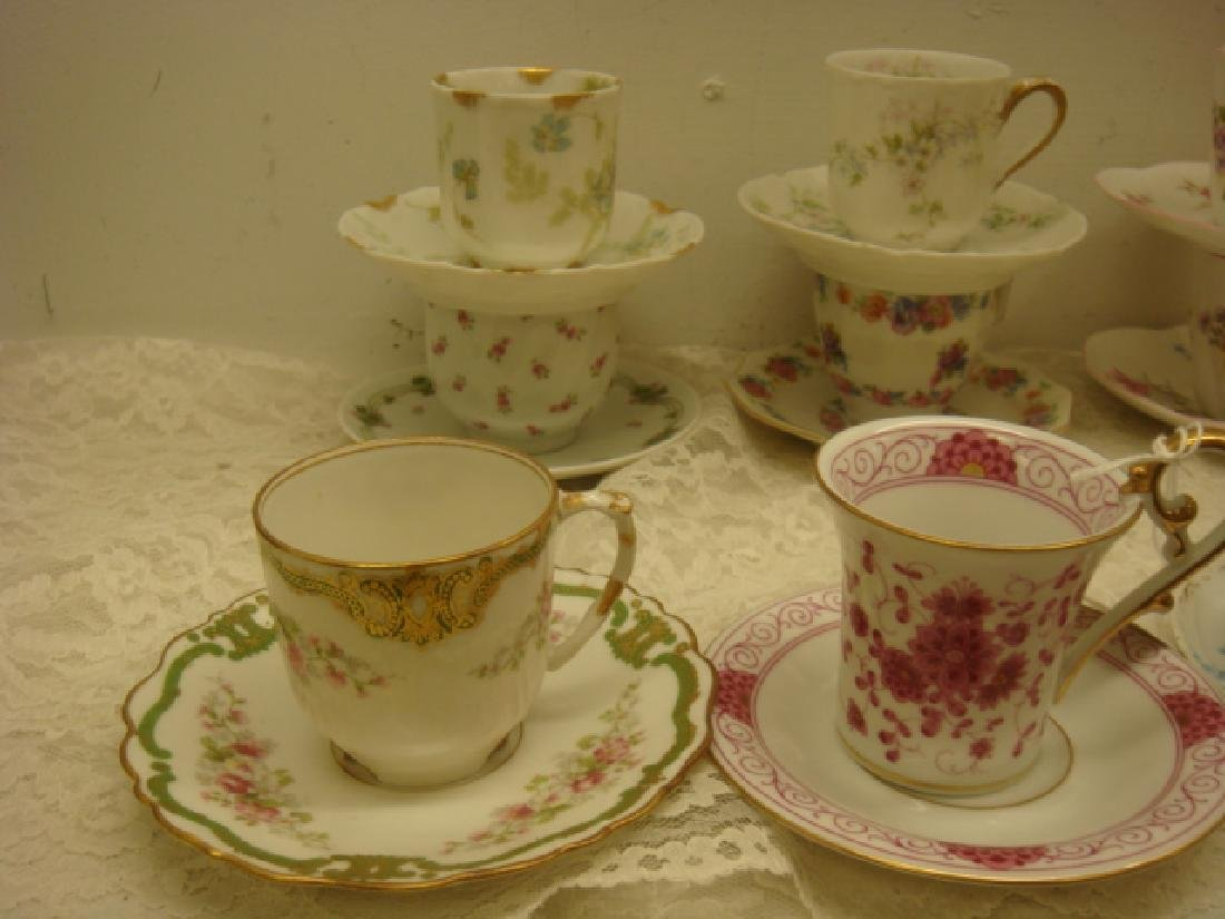 Ten Assorted Demitasse Cups and Saucers: - 2