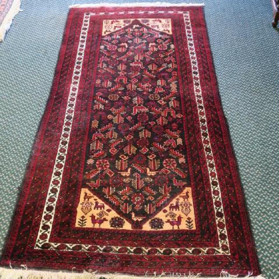 Handloomed Wool Oriental Runner: