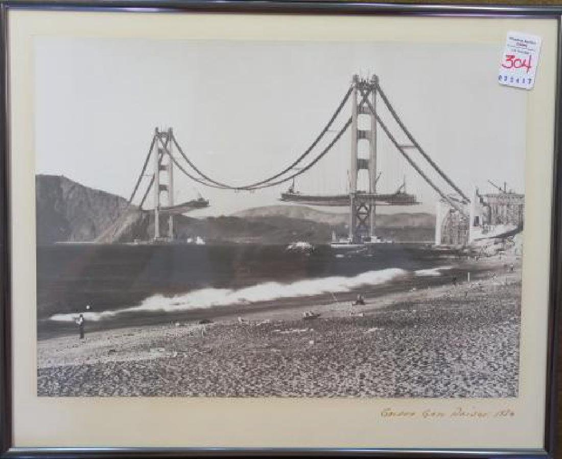 Black/White Photo 1936 Golden Gate Bridge: