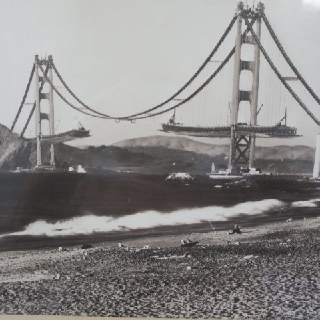 Black/White Photo 1936 Golden Gate Bridge: - 2