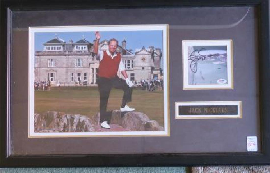 JACK Nicklaus AUTOGRAPH and St Andrews Picture: