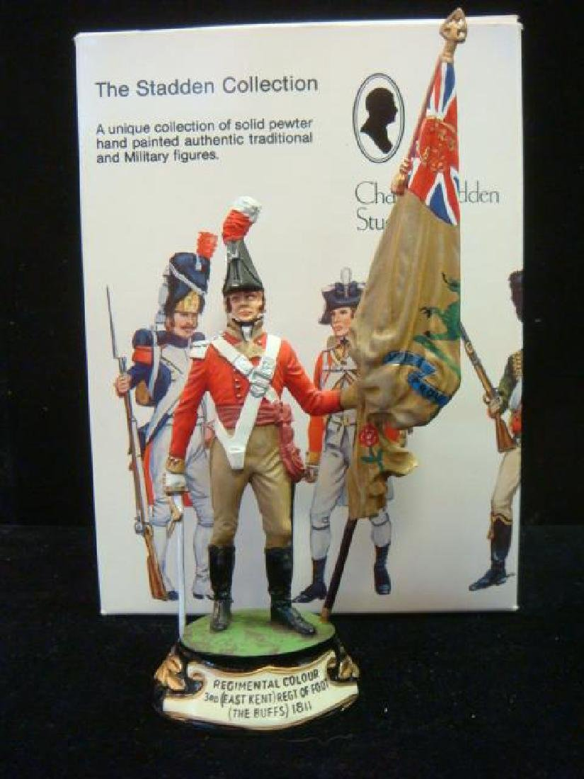 STADDEN Military Figurine 90mm REGIMENTAL COLORBEARER: