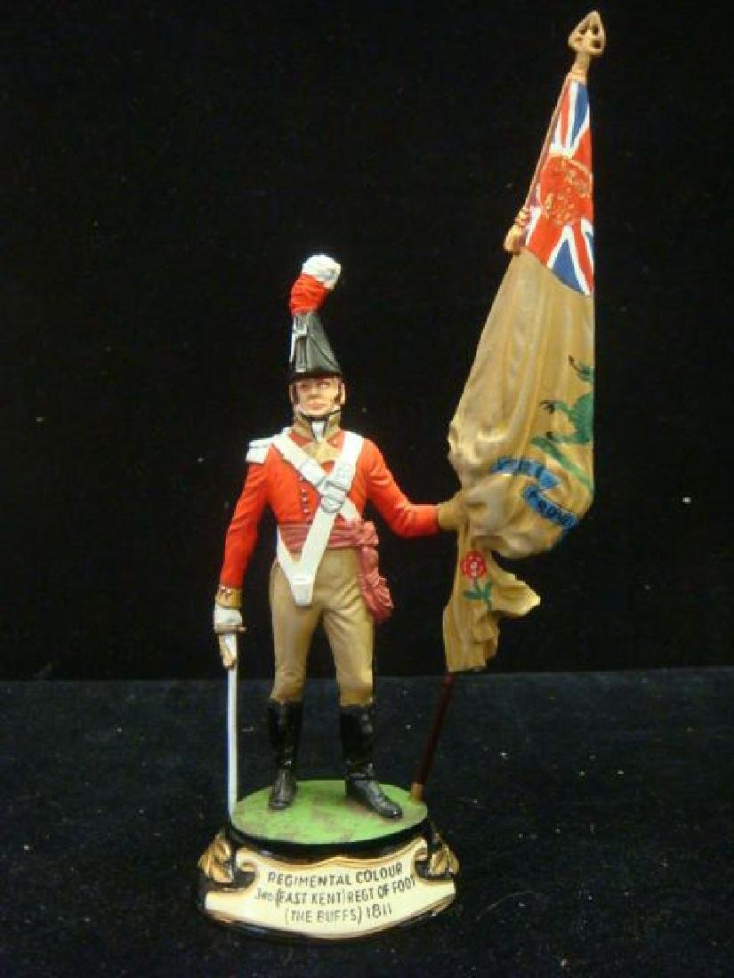 STADDEN Military Figurine 90mm REGIMENTAL COLORBEARER: - 5