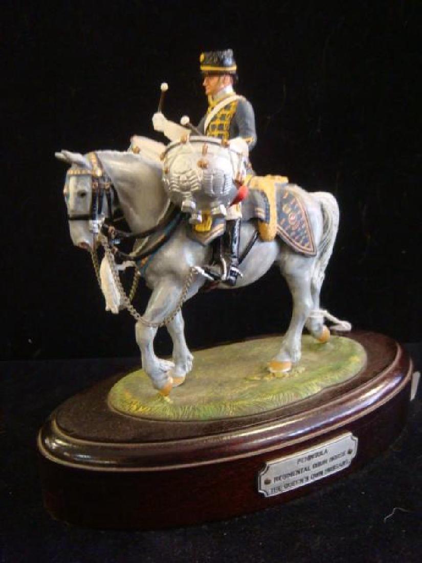 STADDEN Mounted Figurine, REGIMENTAL DRUM HORSE: