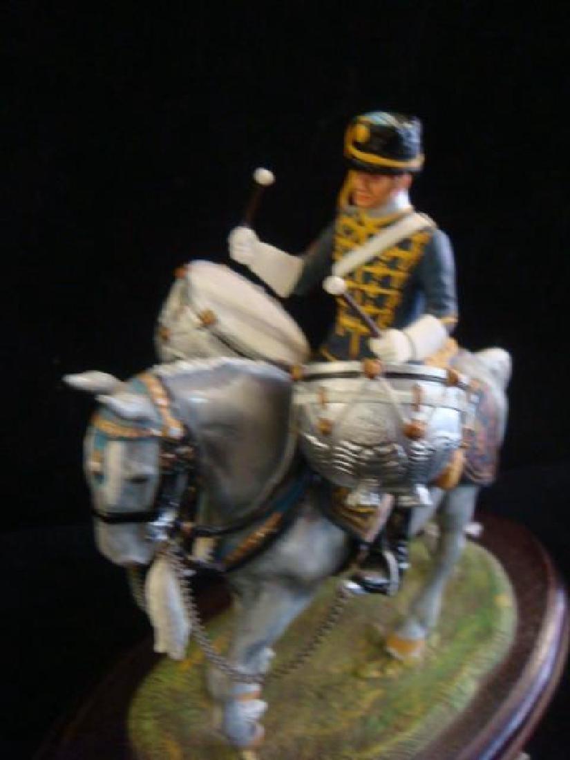 STADDEN Mounted Figurine, REGIMENTAL DRUM HORSE: - 2