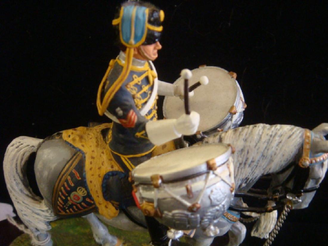 STADDEN Mounted Figurine, REGIMENTAL DRUM HORSE: - 3