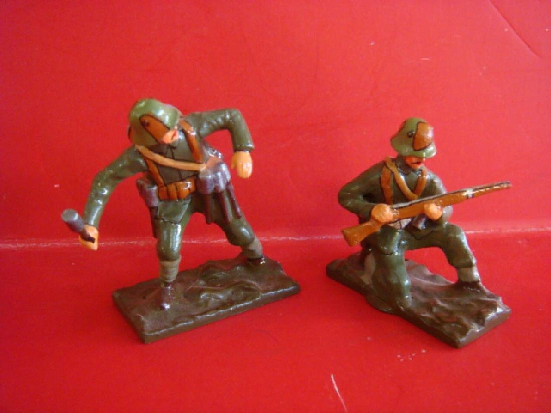 Two Hand painted 54mm Model Soldiers, Storm Troopers: