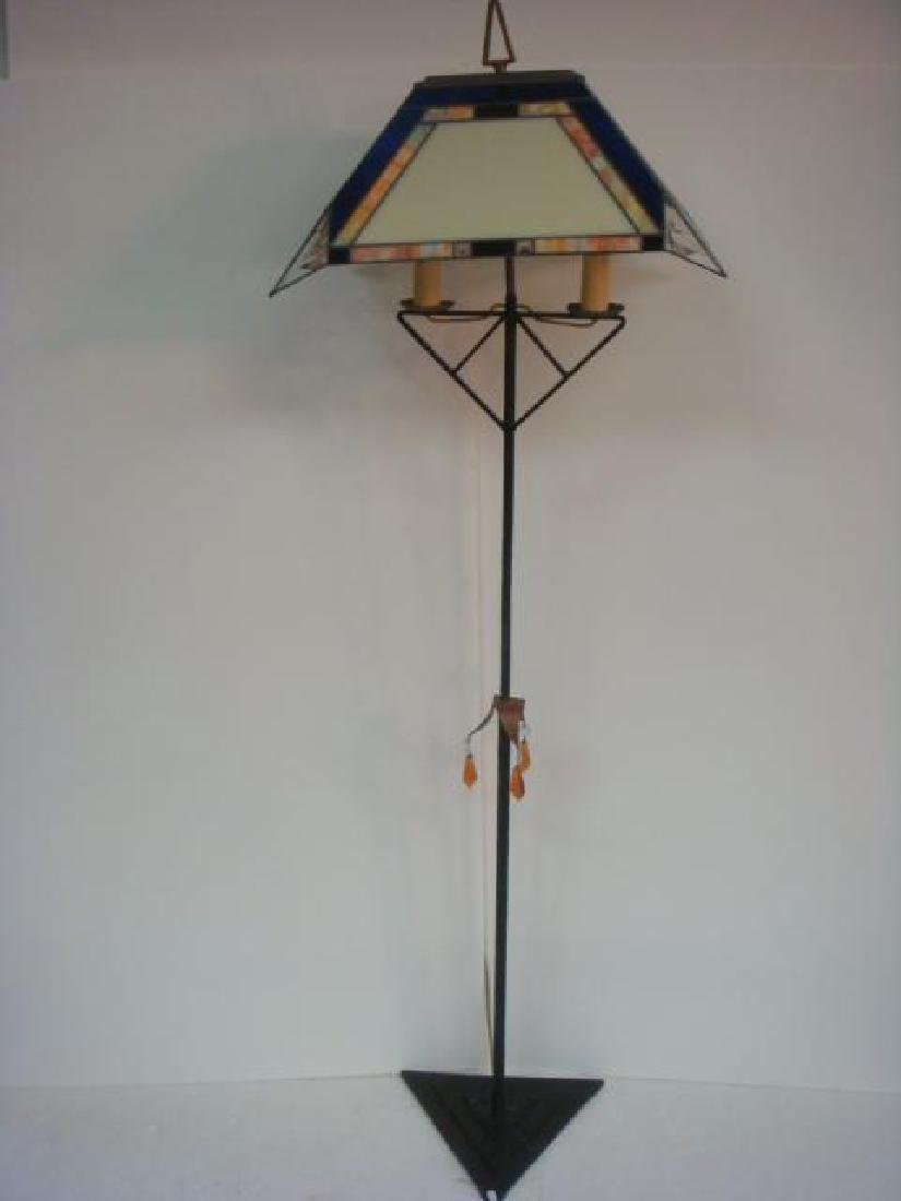 """Deco Style """"A"""" Design Stained Glass Floor Lamp:"""