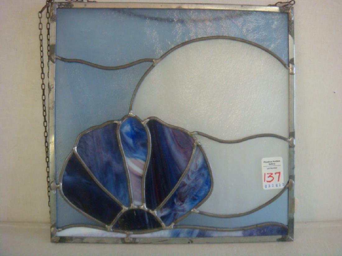 Stained Glass Moon and Shell Sun Catcher: