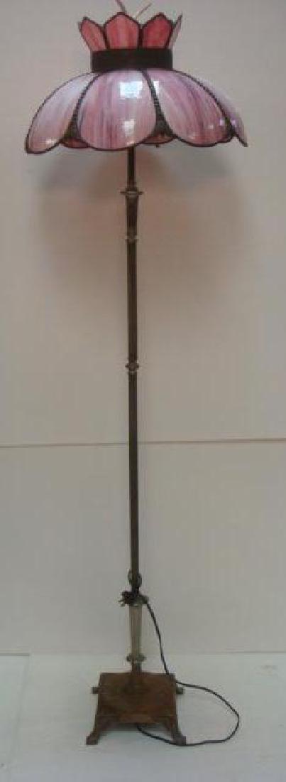Floor Lamp with Slag Glass Petal Shade: