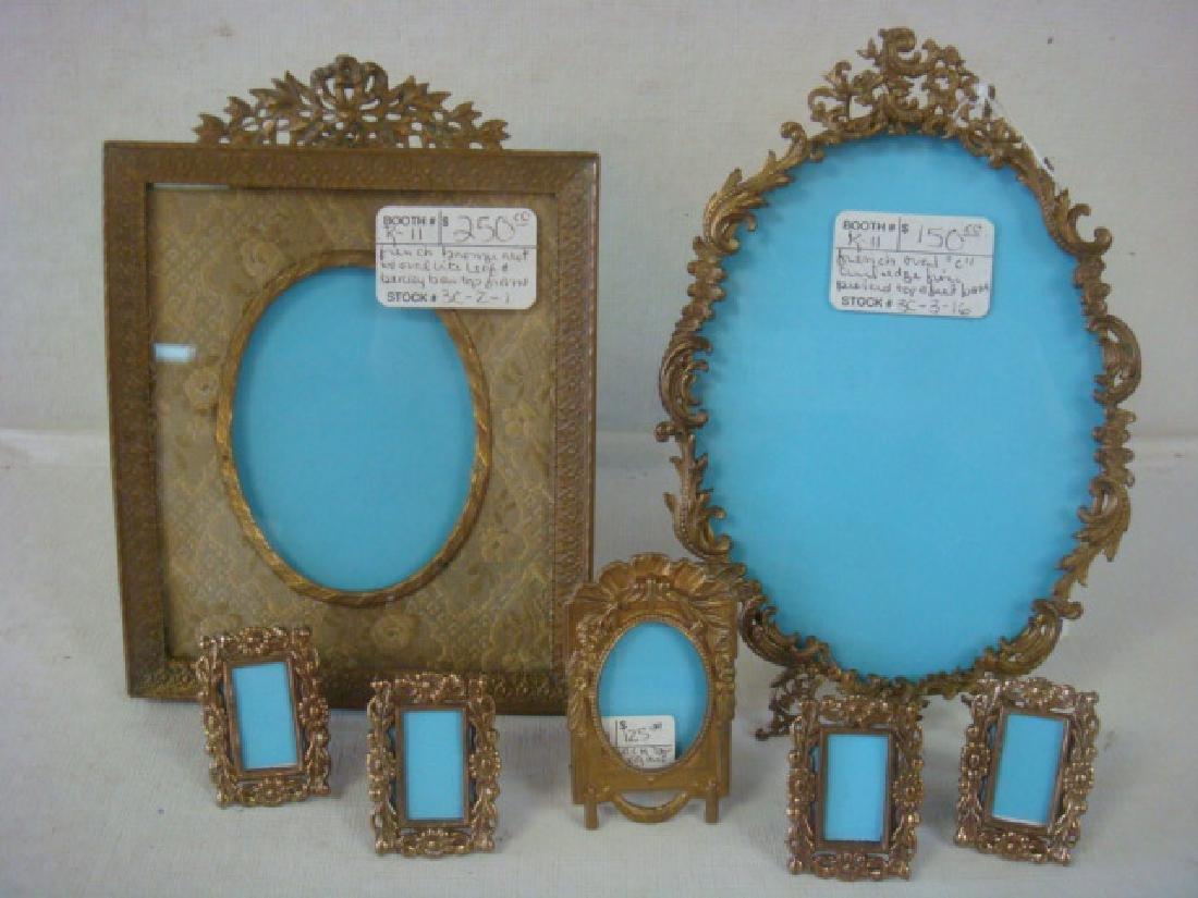 Seven Antique Miniature Frames: