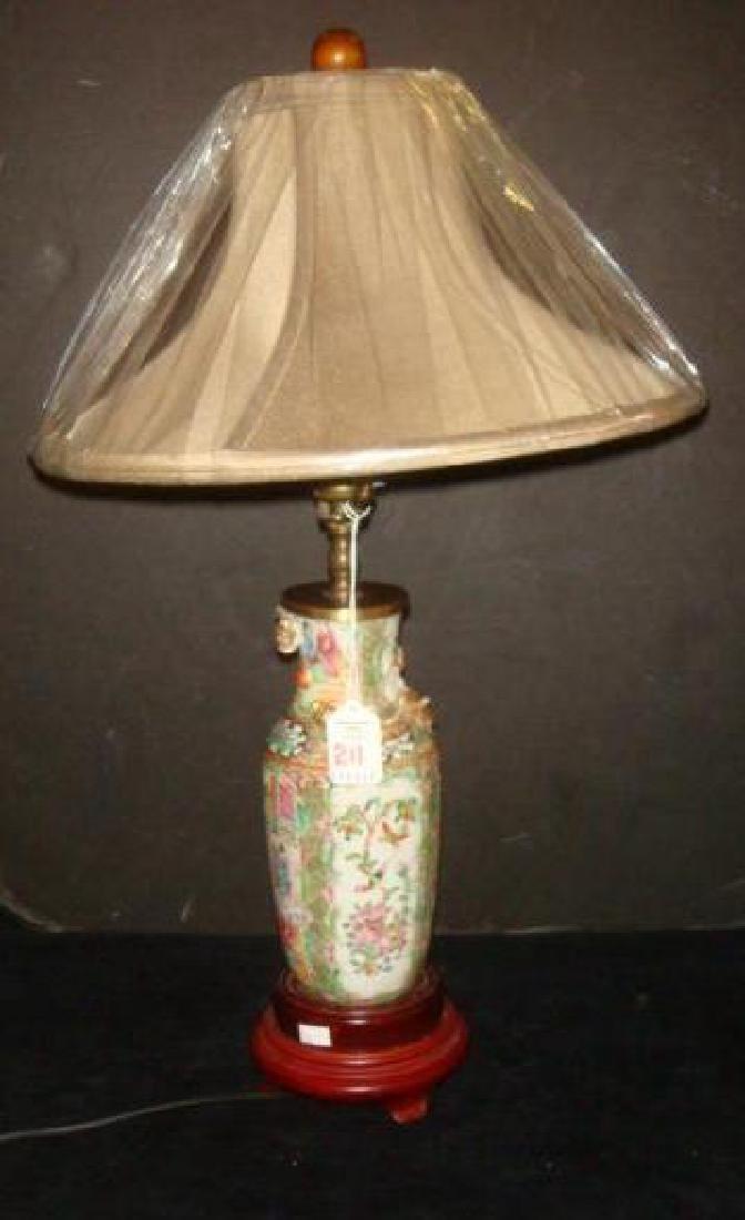 Chinese Export Vintage Boudoir Lamp: