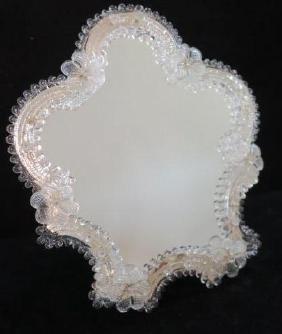 Sparkling Venetian Glass Framed Dresser Mirror: