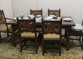 BERKEY & GAY Dining Room Table and Six Chairs: