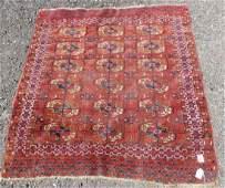 Vintage Hand loomed Wool Persian Bokhara Rug