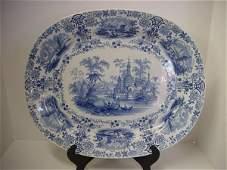 1 Vintage Ridgeway Staffordshire Transferware Platter