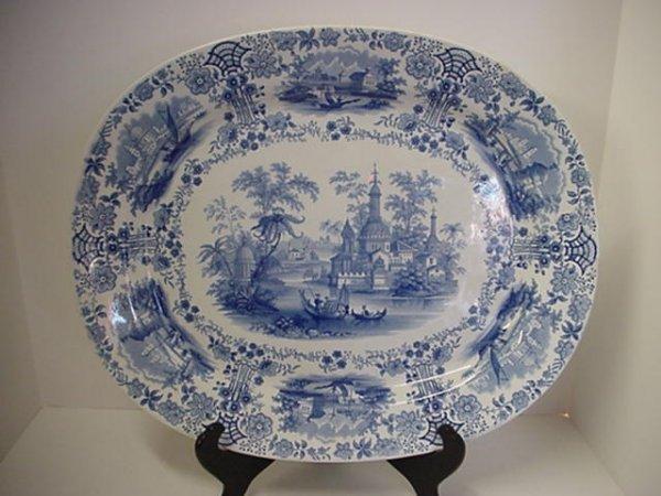 1: Vintage Ridgeway Staffordshire Transferware Platter: