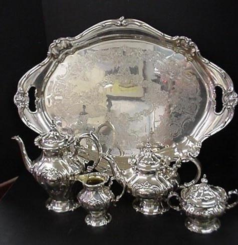2: 5 Piece Gorham Silver Plate Tea Service: