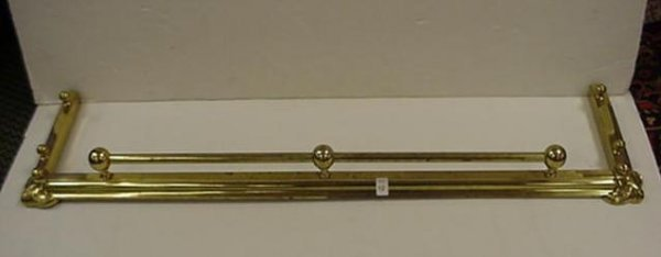 12: Brass Fireplace Fender: