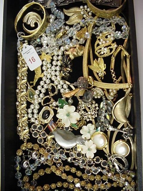 16: Collection of Designer Signed Costume Jewelry: