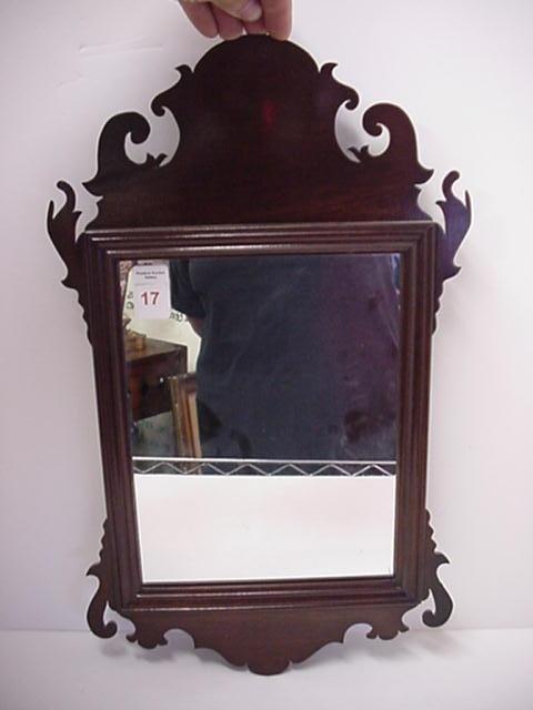 17: Williamsburg Mahogany Chippendale Style Mirror: