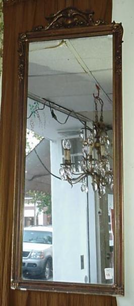 18: Vintage Rectangular Pier Style Mirror in Carved