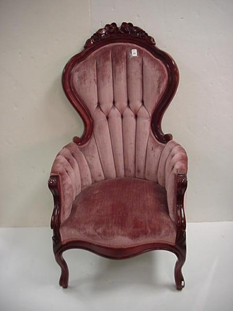 29: Kimball Furniture Co Rose Carved Chair: