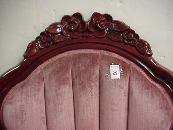 29: Kimball Furniture Co Rose Carved Chair: - 2