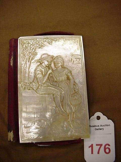 176: Carved Mother of Pearl Calling Card Case: