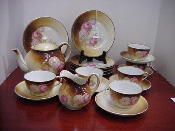 402: 20 Piece Bavarian Rose Motif Tea Set: