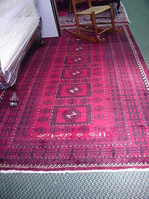 406: Signed Hand Loomed All Wool Iranian Rug: