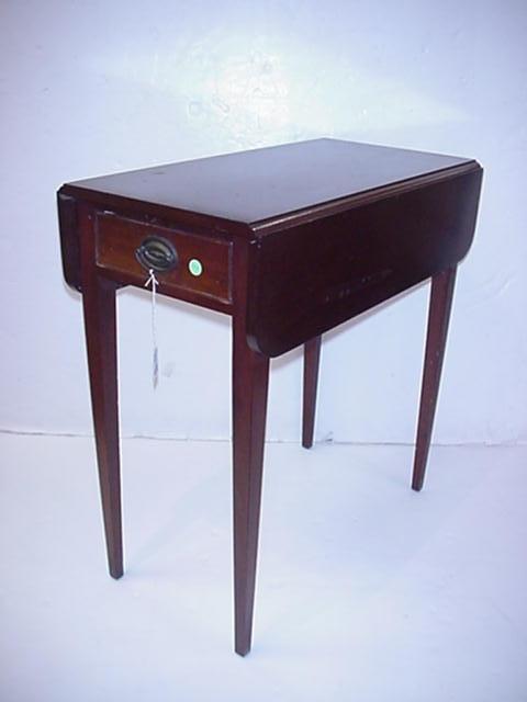 410: Pair of Mahogany Pembroke Tables Made by Bigg: Dro