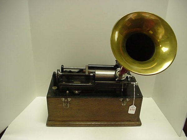 514: Edison Home Cylinder Phonograph with Horn: