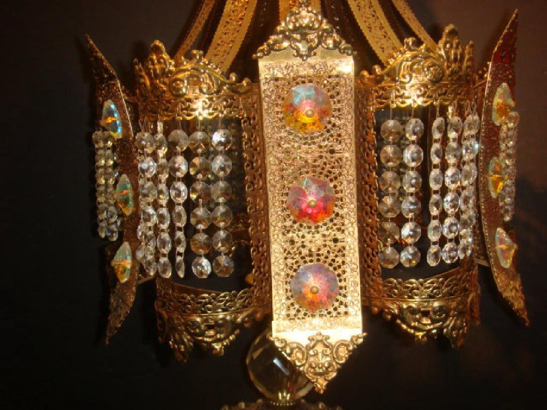 Pair of Hollywood Regency Jeweled Table Lamps: - 2