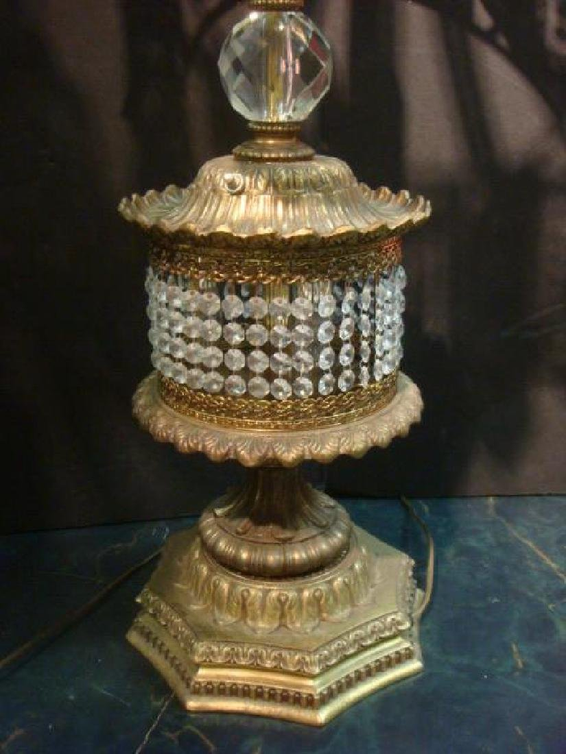 Pair of Hollywood Regency Jeweled Table Lamps: - 3