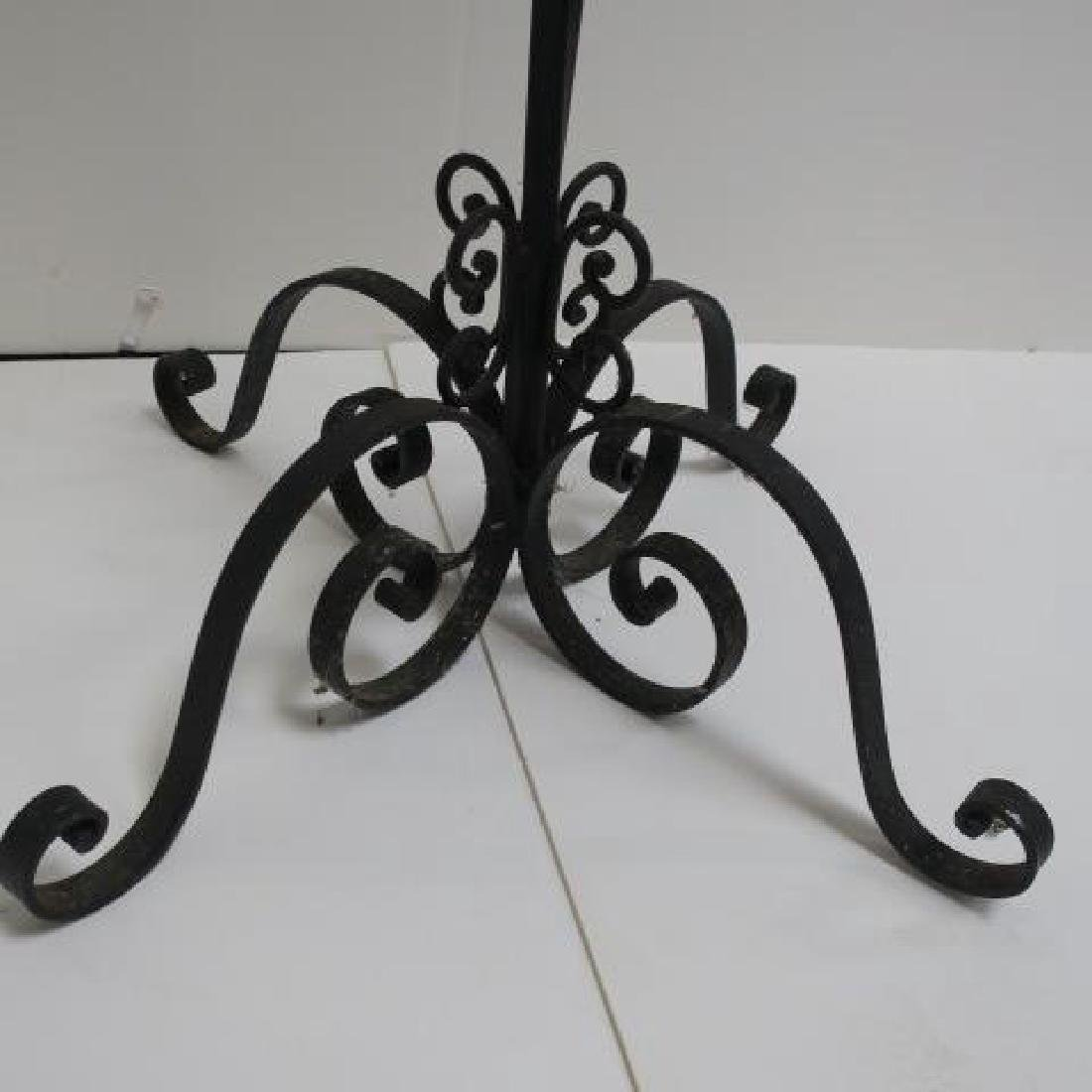 Black Wrought Iron Floor Candle Stand: - 3