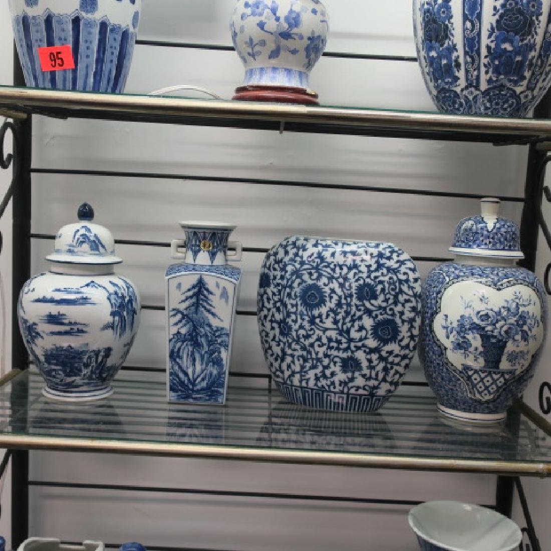Four Blue and White Ceramic Vases and Jars: