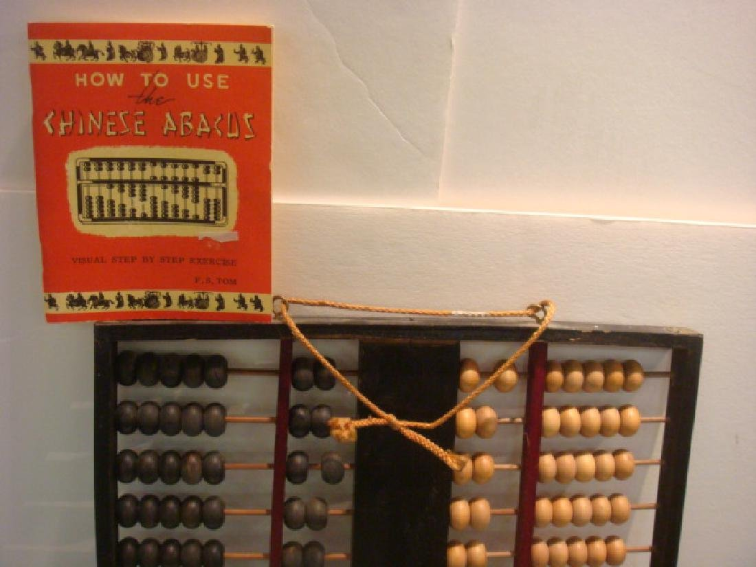 Large Chinese Abacus with Instruction Book: - 2