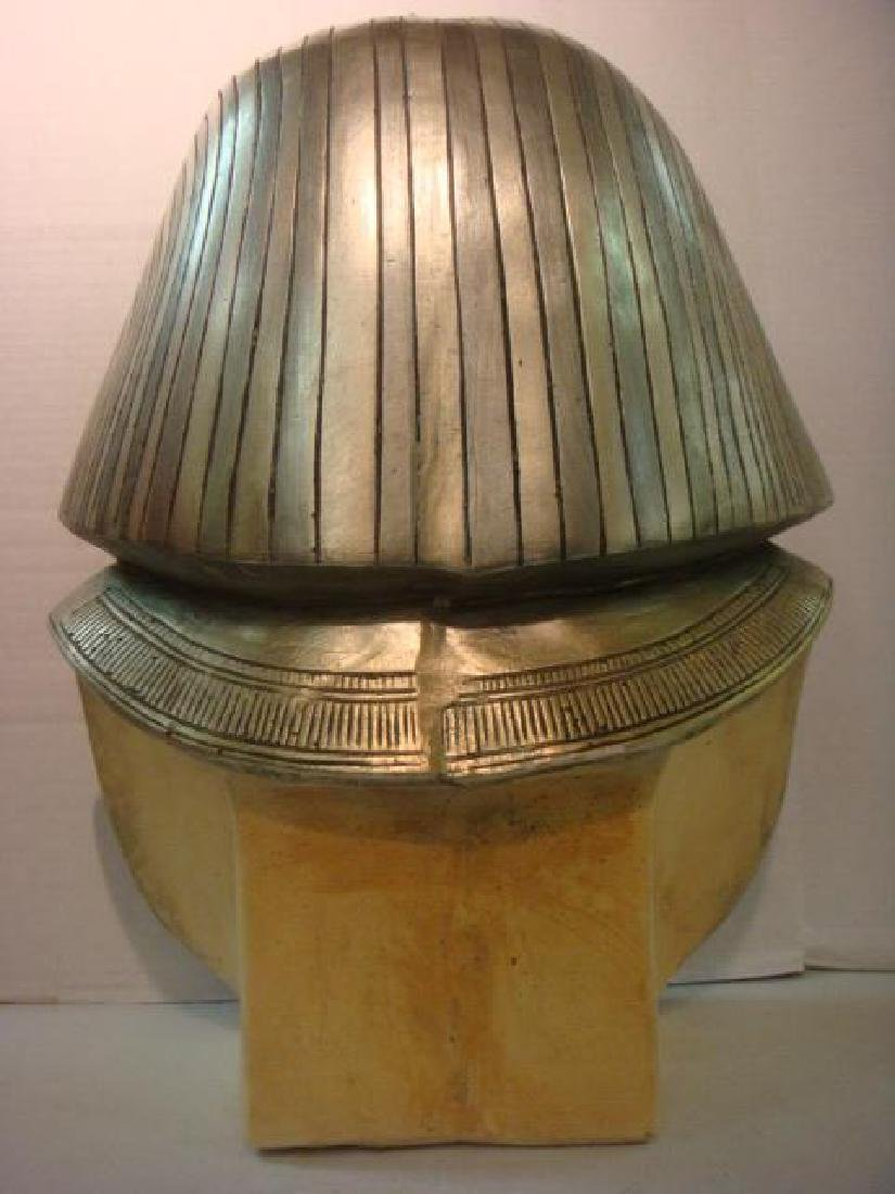 Life Size Bust King Tut in Silver and Gold: - 3