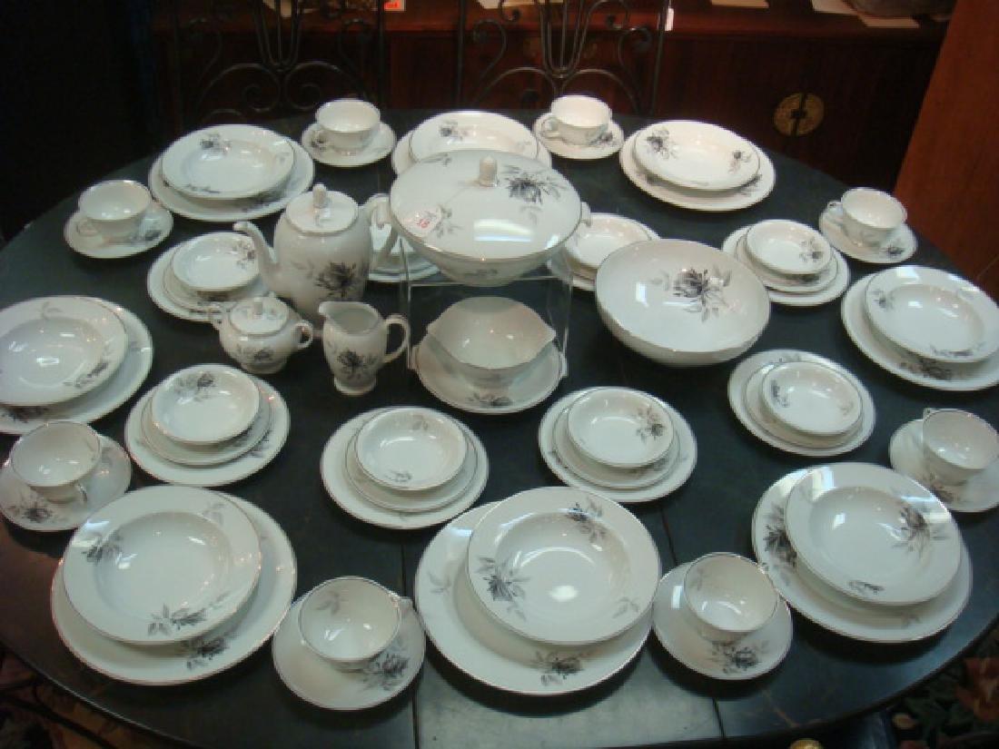 """Service for 8 ROSENTHAL """"Black Rose Dinnerware:"""