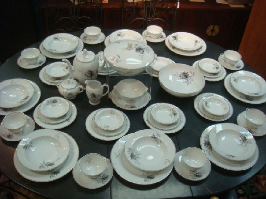 "Service for 8 ROSENTHAL ""Black Rose Dinnerware:"