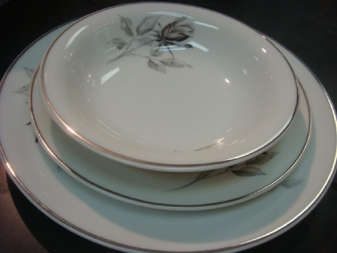 """Service for 8 ROSENTHAL """"Black Rose Dinnerware: - 5"""