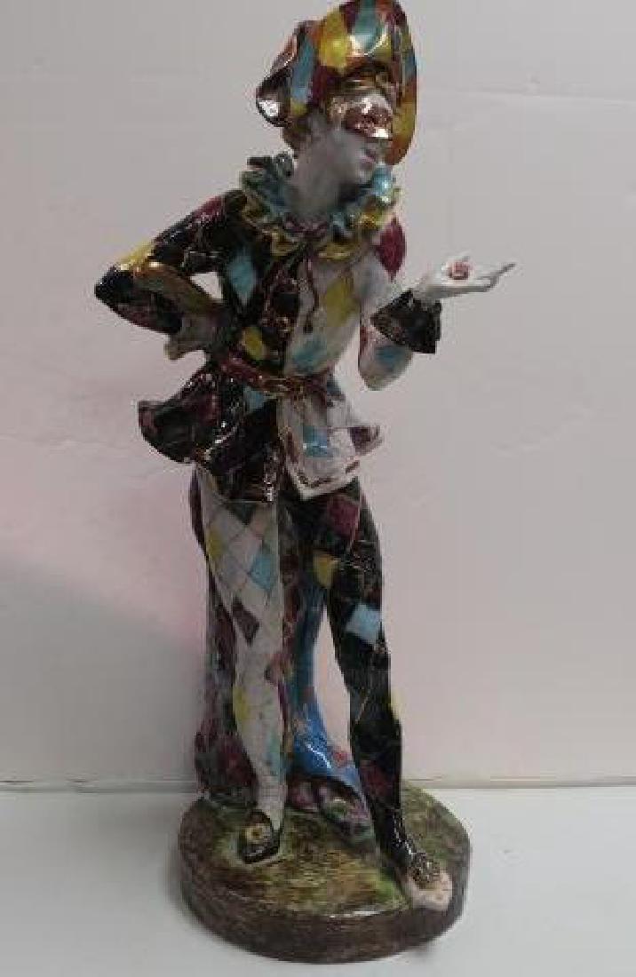EUGENIO PATTARINO Italian Glazed Ceramic Harlequin: