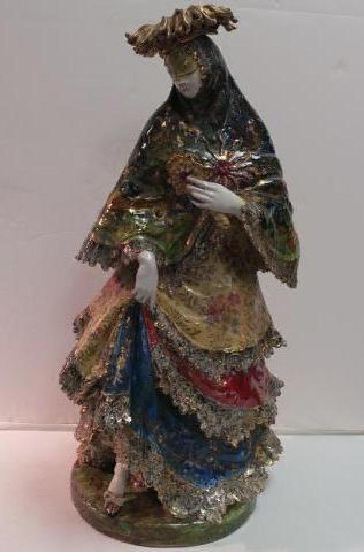 EUGENIO PATTARINO Glazed Ceramic Spanish Dancer: