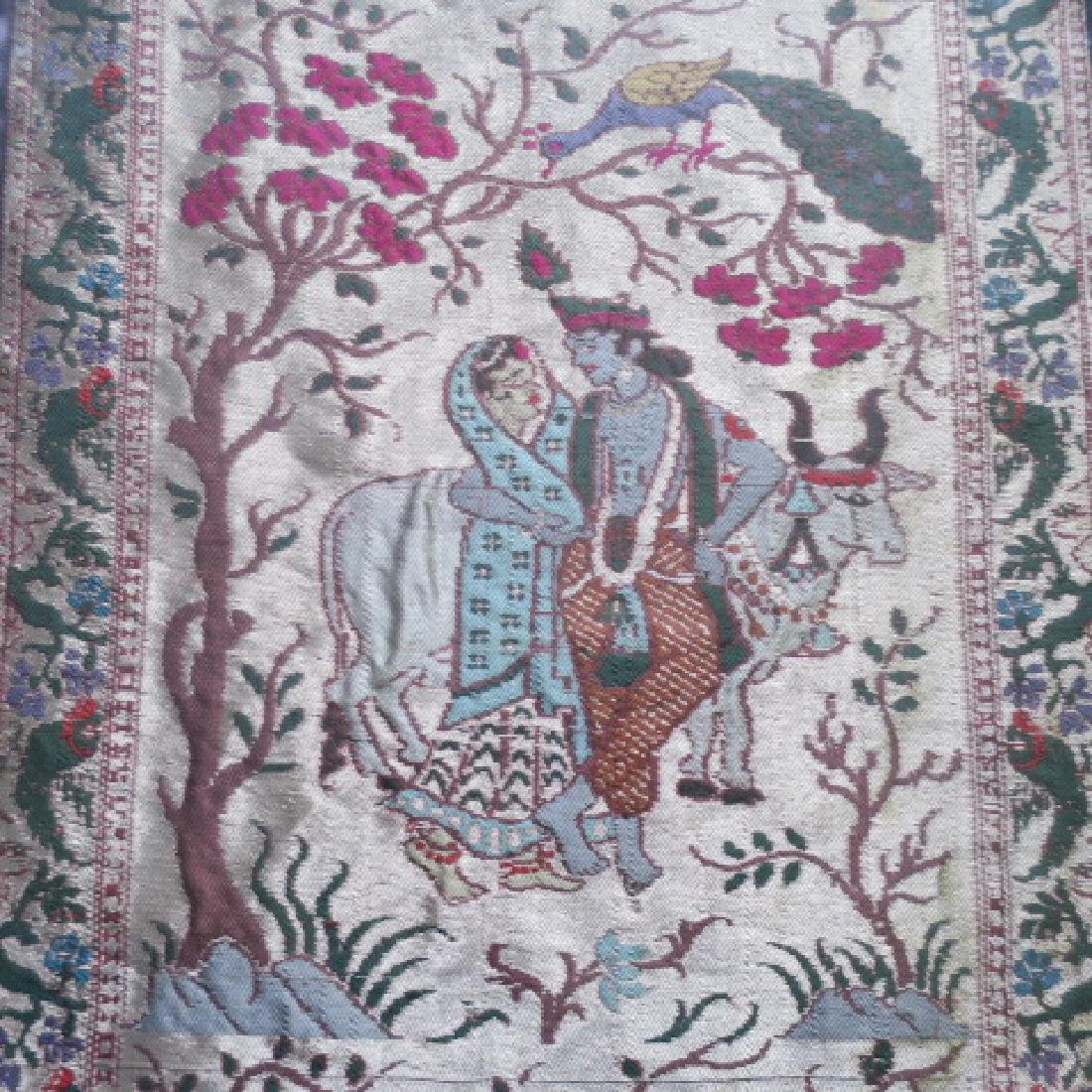 Pictorial Middle Eastern Framed Tapestry: - 2