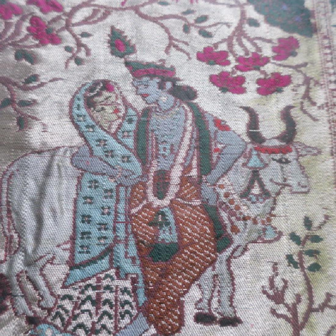 Pictorial Middle Eastern Framed Tapestry: - 5