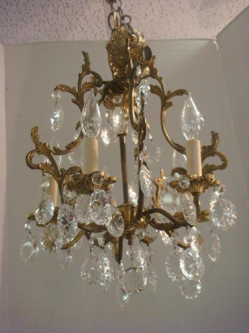 Petite Five Arm French Style Birdcage Chandelier: