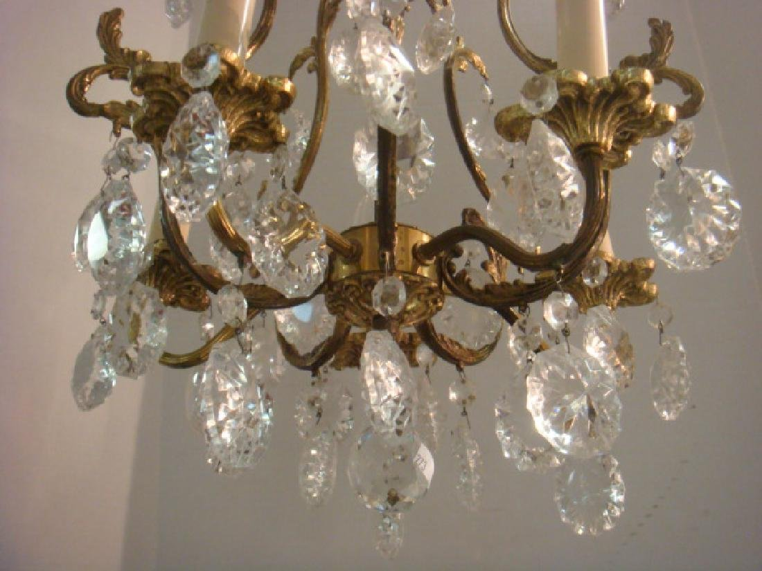Petite Five Arm French Style Birdcage Chandelier: - 2