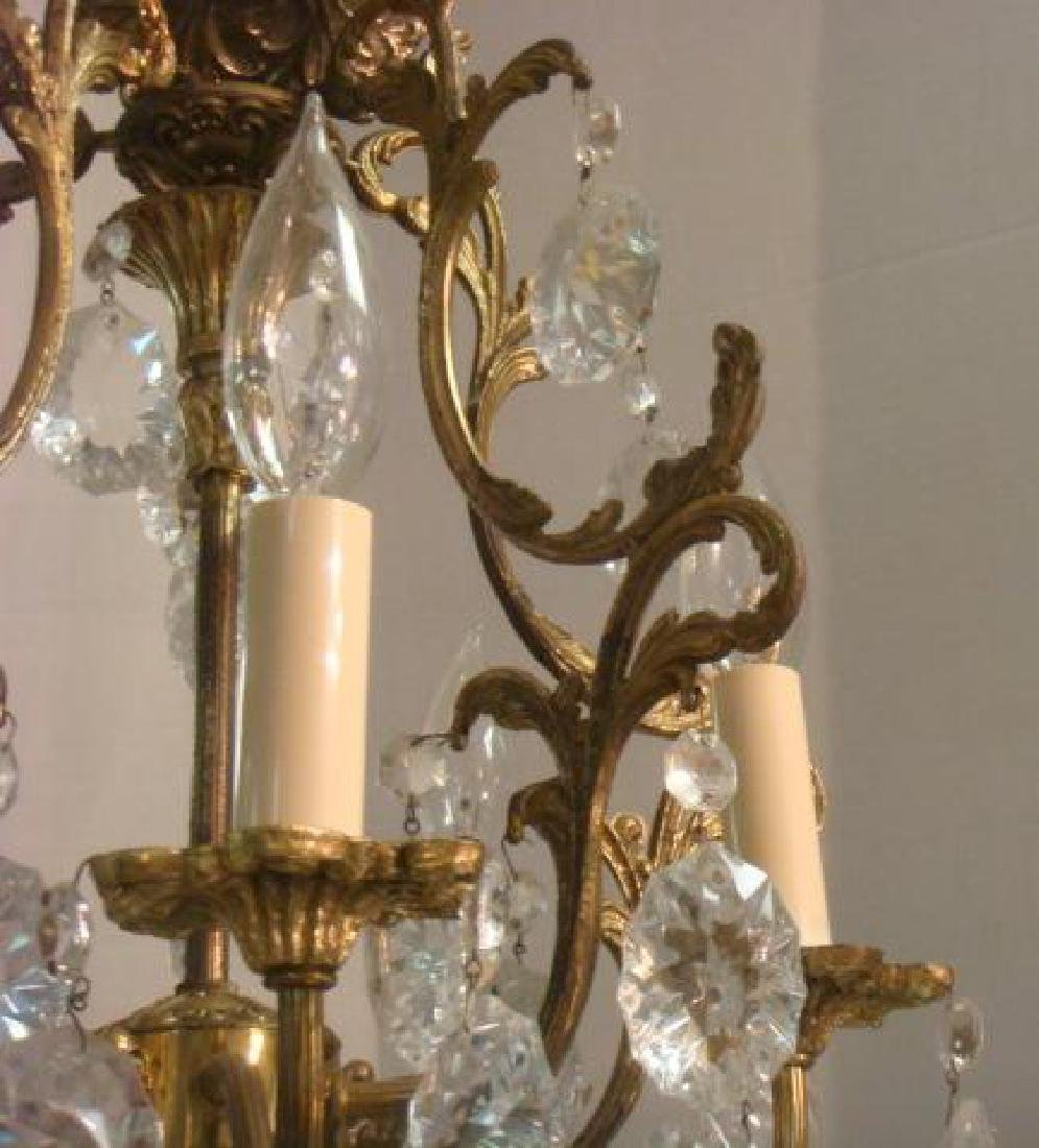 Petite Five Arm French Style Birdcage Chandelier: - 3