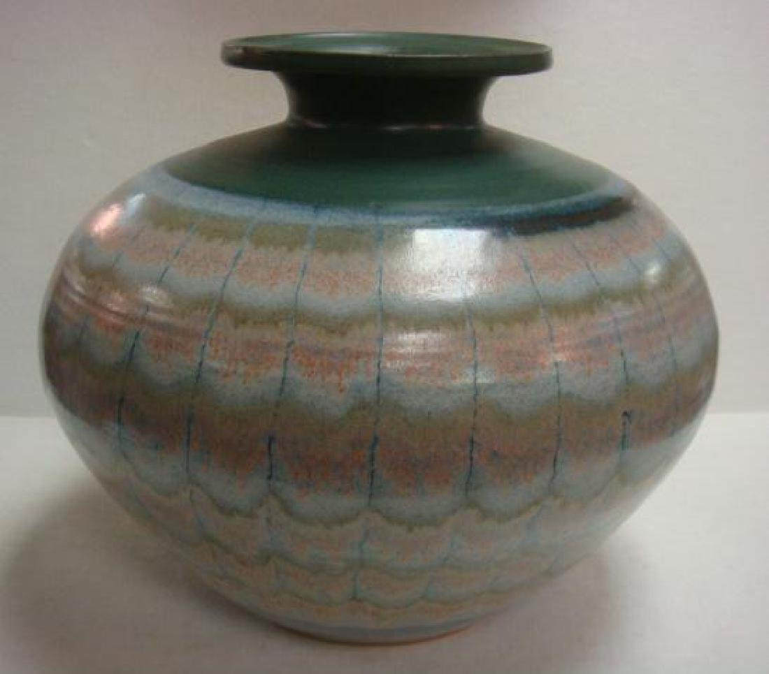 Signed Contemporary Art Pottery Vase: